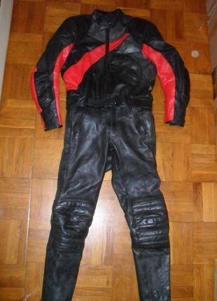 Мото-костюм кожаный leder ( германия ) , размер м-l ( 50-52 )