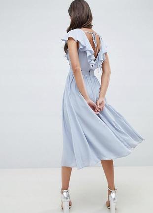 ... Asos чарівна блакитна сукня ажурні вставки волани3 ... 89a362e2a5d45