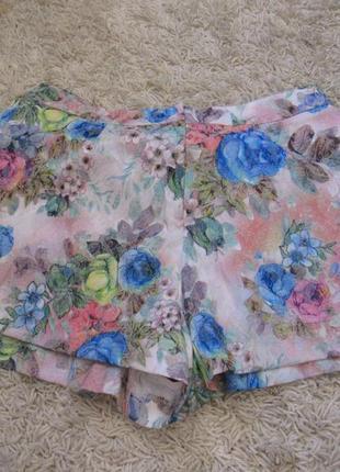 Красивые яркие шортики-юбка на пышную красавицу))