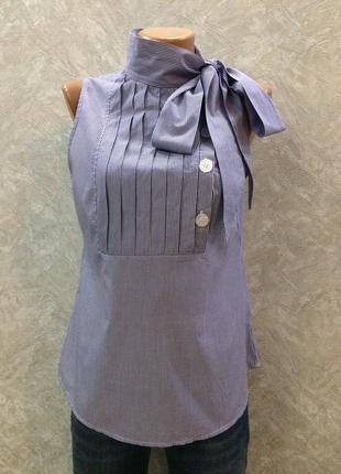 Блуза майка в полоску с завязкой