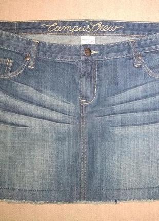 Стильная джинсовая юбочка campus crew