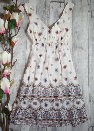 Нежное легкое платье с открытой спинкой new look