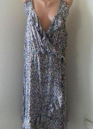 Новое натуральное платье на запах большого размера