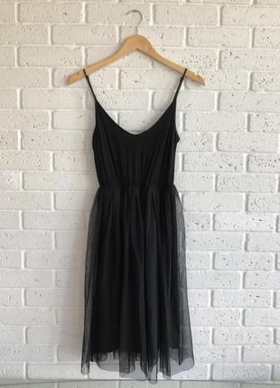Платье миди asos petite на тонких бретельках + фатиновая юбка пачка ballerina cami dress