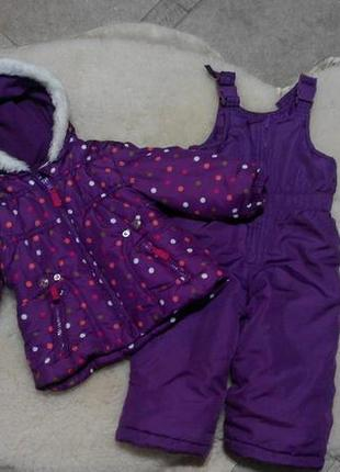 Демисезонный, фирменный костюм oshkosh на девочку 1-2 годика