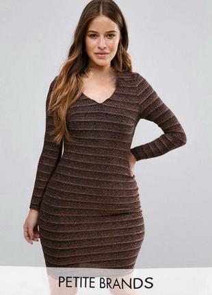 Платье с люрексом от new look plus size 26/54
