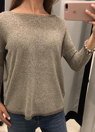 Свитер с люриксом mohito вязаный золотой свитер кольчуга xxs-xl