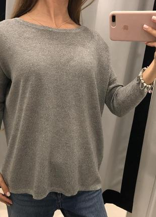 Вязаный свитер серебро mohito свитер металлик кофта кольчуга xxs-xl