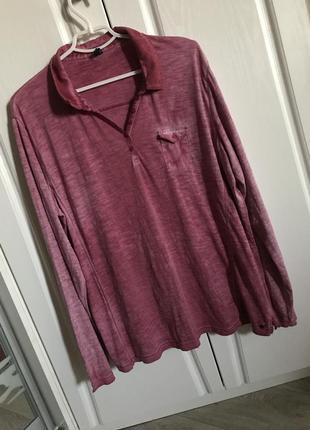 Трендовая трикотажная блуза кэжуал, эффект варенки