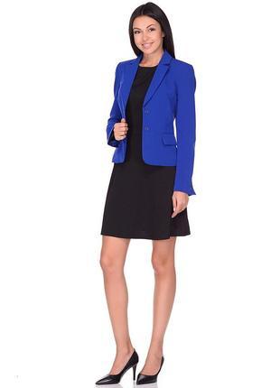 Стильный синий пиджак блейзер жакет