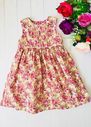 Хлопковое платье сарафан cindevella