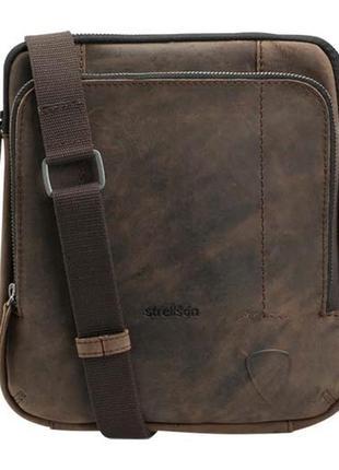 Винтажная сумка  через плечо. новая . кожаная. strellson west ham. оригинал