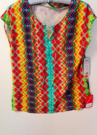 Яркая блуза на завязках леся украинка