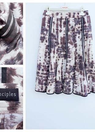 Натуральная юбка миди красивая юбка миди