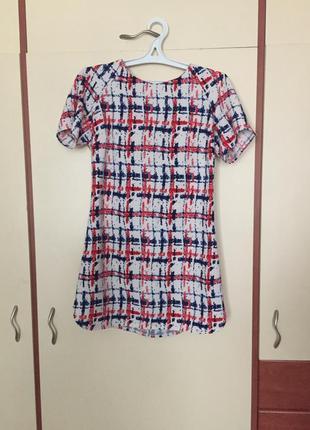 Как zara платье мини в стиле 70х платье абстракция короткое платье с молнией