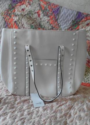 Белоснежная сумка-шоппер  oodji