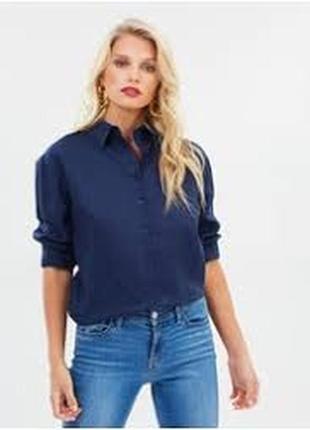 Zara рубашка блуза сине-фиолетового цвета