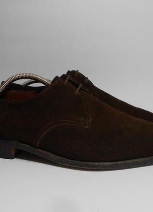Фирменные замшевые мужские туфли k-shoes англия, размер 43- 44