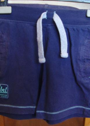 Шорты синие rebel 2-3 года 98 см 100%котон