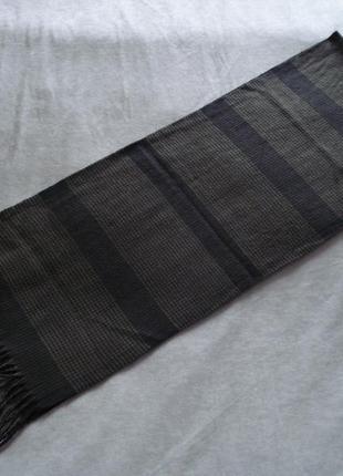 Мужской клетчато-полосатый шарф