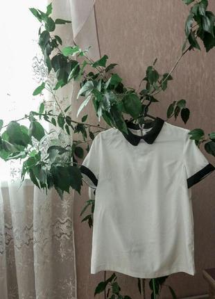 Классическая белая блуза kira plastinina