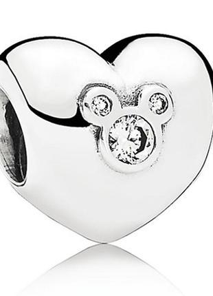 Шарм сердце микки дисней в стиле пандора pandora