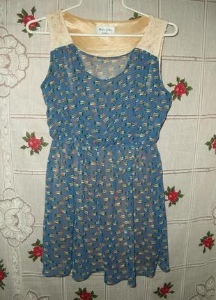"Супер платье""miss jolie""р.46,100%коттон"