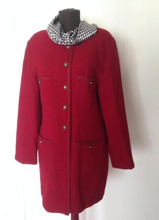 Элегантный шерстяной жакет, пиджак, пальто в стиле шанель.