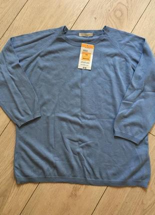 Пуловер свитер свитшот хлопок небесно голубой