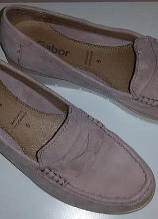 Mодные gabor кожаные слипоны мокасины туфли