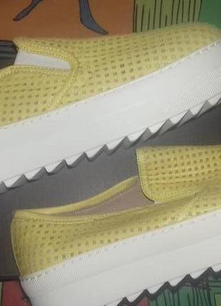 Легчайшие кожаные слипоны туфли  с перфорацией mario mikke