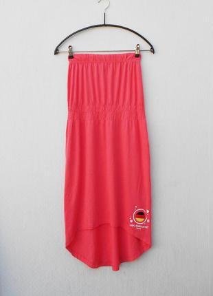 Летнее трикотажное  платье бюстье