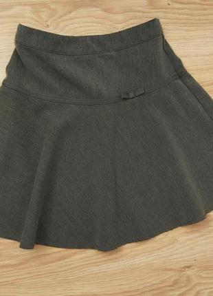 Стильная юбочка в деловом стиле, с бантиком