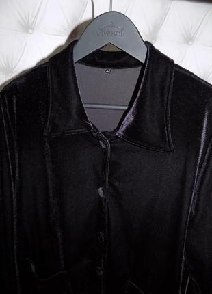 Винтажный  пиджак ровного кроя
