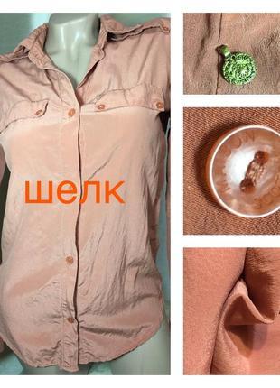 Luxury качество натурального шелка шелковая блуза на длинном рукаве 100% шелк