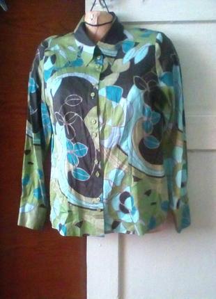 Хлопковая рубашка класса люкс в принт оригинал рр.-м.1 фото