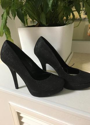 Туфли блестки высокий каблук