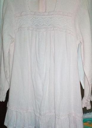 Платье из жатого хлопка с подкладкой для девочки