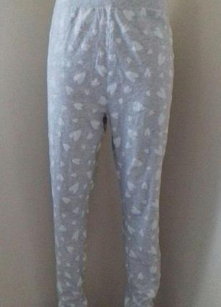 Трикотажные домашние брюки с принтом большого размера