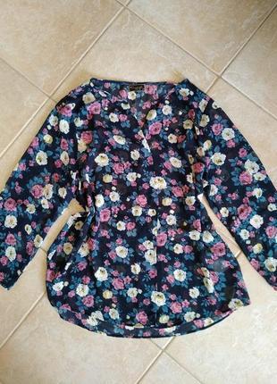 Легкая тонкая блузка большого размера