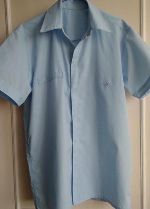 Рубашка smiletime на кнопках с коротким рукавом,  на рост 158-164