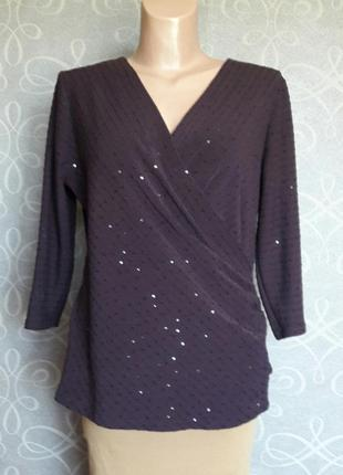 Блузка на запах marks & spencer