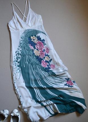 Распродажа! длинное летнее платье сарафан р.m 100% вискоза fever london