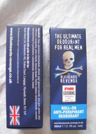 Крутой эко- дезодорант the bluebeards revenge anti-perspirant deodorant, англия, оригинал!