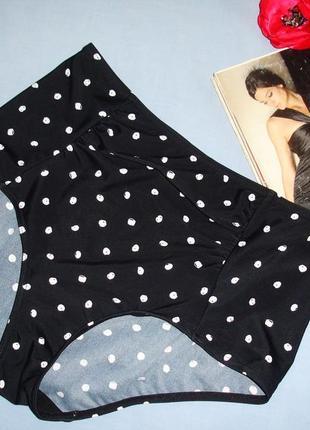 Низ от купальника раздельного трусики женские плавки размер 50 / 16 черные высокие ретро