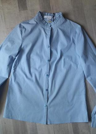 Рубашка с длинными рукавами и воротником-стойкой с воланами - mademoiselle r