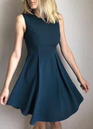 Платье h&m стильное миди с  интересным подолом