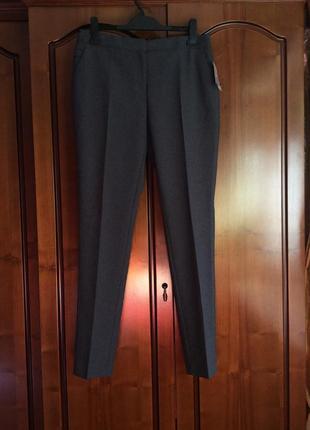Классические серые брюки штаны