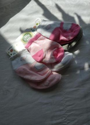 Набор носков для девочки от рождения 6 пар! little me