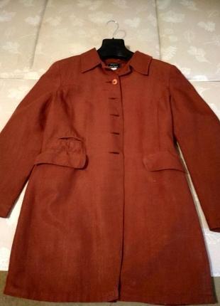 Льняной пиджак-френч1 фото